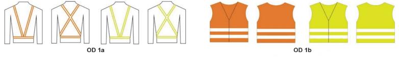 reflexní vesty a šle