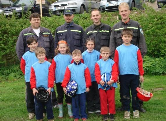 Začátky družstva nejmladších hasičů