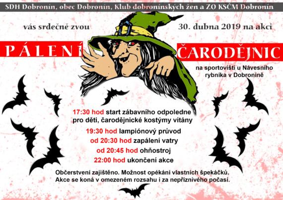 Pozvánka Čarodějnice 2019